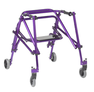 Drive Nimbo 2G Lightweight Posterior Walker with Seat- Medium- Wizard Purple