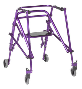 Drive Nimbo 2G Lightweight Posterior Walker with Seat- Large- Wizard Purple