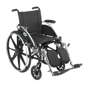 "Drive Viper Wheelchair with Flip Back Removable Arms- Desk Arms- Elevating Leg Rests- 12"" Seat"