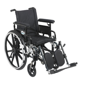 "Drive Viper Plus GT Wheelchair with Flip Back Removable Adjustable Full Arms- Elevating Leg Rests- 16"" Seat"