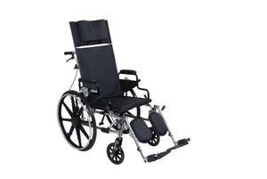 "Drive Viper Plus GT Full Reclining Wheelchair- Detachable Desk Arms- 18"" Seat"