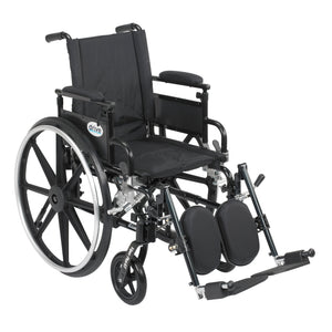 "Drive Viper Plus GT Wheelchair with Flip Back Removable Adjustable Desk Arms- Elevating Leg Rests- 20"" Seat"