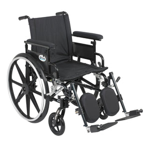 "Drive Viper Plus GT Wheelchair with Flip Back Removable Adjustable Full Arms- Elevating Leg Rests- 20"" Seat"