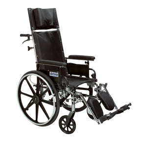 "Drive Viper Plus GT Full Reclining Wheelchair- Detachable Desk Arms- 20"" Seat"