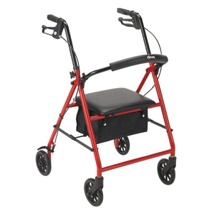 "Drive Rollator Rolling Walker with 6"" Wheels- Red"