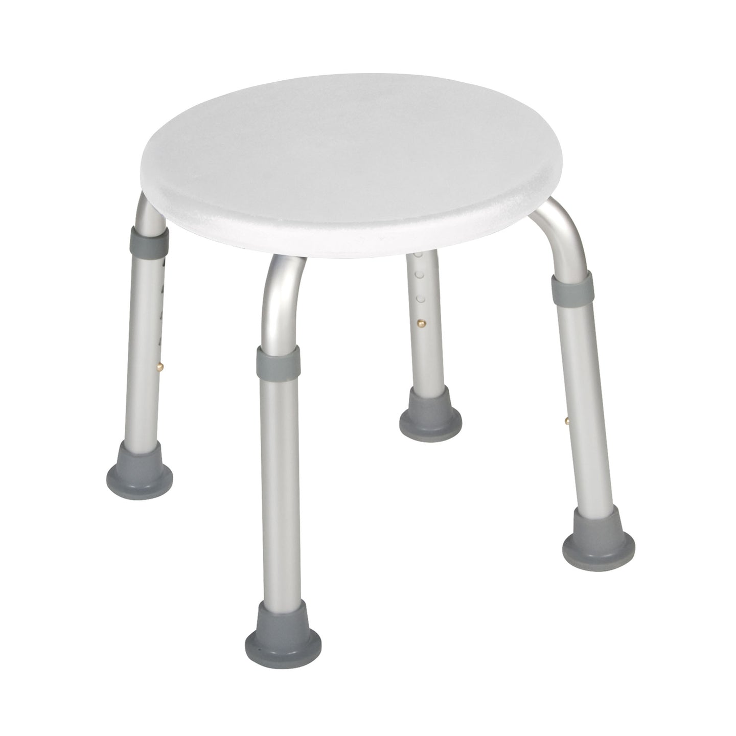 Drive Adjustable Height Bath Stool- White