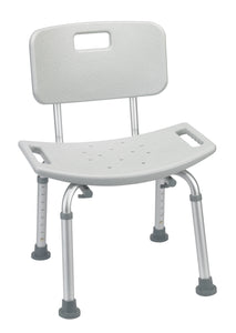 Drive Bathroom Safety Shower Tub Bench Chair with Back- Gray