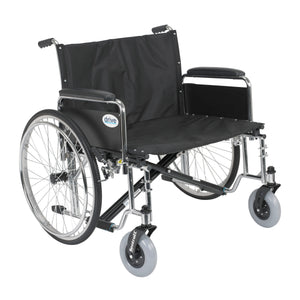 "Drive Sentra EC Heavy Duty Extra Wide Wheelchair- Detachable Full Arms- 30"" Seat"