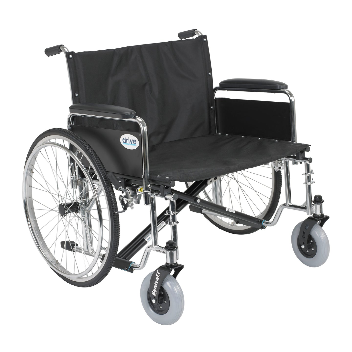 Drive Sentra EC Heavy Duty Extra Wide Wheelchair- Detachable Full Arms- 30