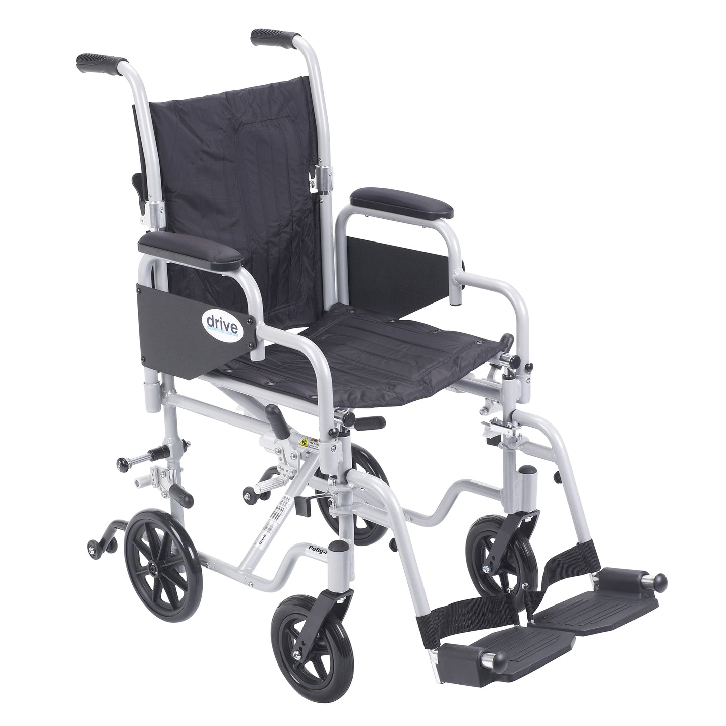 Drive Poly Fly Light Weight Transport Chair Wheelchair with Swing away Footrests- 16