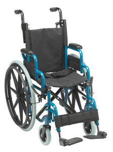 "Drive Wallaby Pediatric Folding Wheelchair- 14""- Jet Fighter Blue"