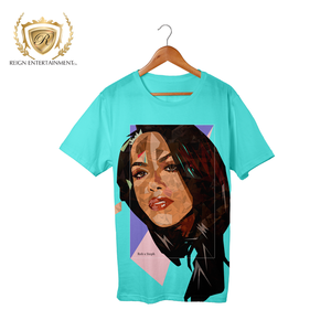 "Woman Art Line ""Baby Girl"" Turqouise Apparel Piece #12"