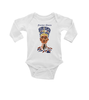 Forever Queen Infant Long Sleeve Baby Rib Bodysuit
