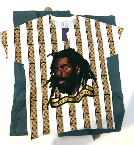 Buju Artwork on White tee