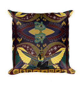 Maat Square Pillow Case w/ stuffing