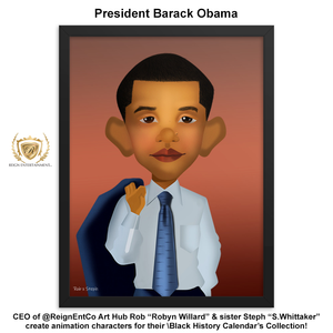 "R.E.C. Black History Calendar Character Collection ""Mr. Barack Obama"""