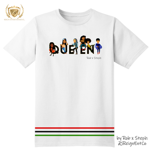 Classic Queens Squad Unity Stripes Tee by Rob x Steph