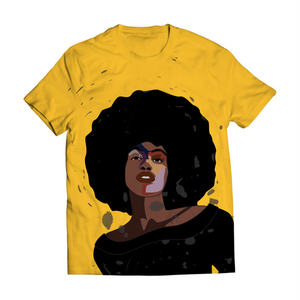 Afro Black Woman Tee Shirt