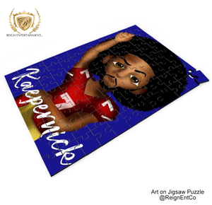 "Custom Art on Jigsaw Puzzle- ""Colin Kaepernick"" 14"" x 9.5"""