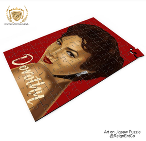 "Custom Art on Jigsaw Puzzle- ""Dorothy Dandridge"" 14"" x 9.5"""