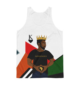 King of Hearts Abstract White Tank