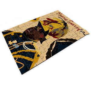 "Custom Art on Jigsaw Puzzle- ""Marcus Garvey"" 14"" x 9.5"""