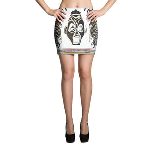 Black & Gold Abstract Art Skirt