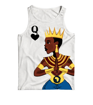 Classic Queen Me on White Tank