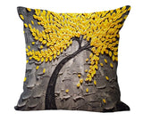 Cushion Cover Vintage Flower Pillow Case Mural Yellow Red Tree Wintersweet Cherry Blossom Home Decorative Throw Pillow Cover