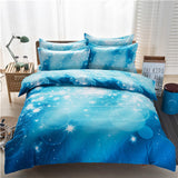 3d Galaxy Duvet Cover Set Single double Twin/Queen 2pcs/3pcs/4pcs bedding sets Universe Outer Space Themed Bed Linen