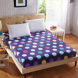 1pc Fitted Sheet Mattress Cover Printing Bedding Linens Bed Sheets With Elastic Band