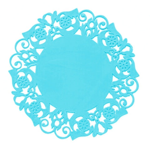 2Pcs/Lot Lace Flower Hollow Doilies Silicone Coaster Coffee Table Cup Mats Pad Placemat Kitchen Accessories Cooking Tools