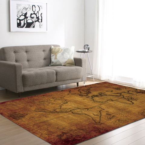 World Map Pattern Carpet Rug