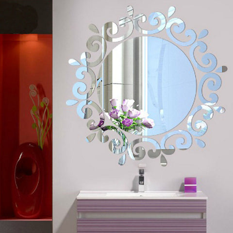 Room Acrylic Decal Art DIY Mirror Light Decor 3D Wall Sticker Home Decoration Hot LXY9 DE17