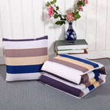 Travel Mini Storage Quilt Single Pads Office Multifunction Sofa Chaise Lounge Chair Cushion Blanket Car Back Lumbar Throw Pillow
