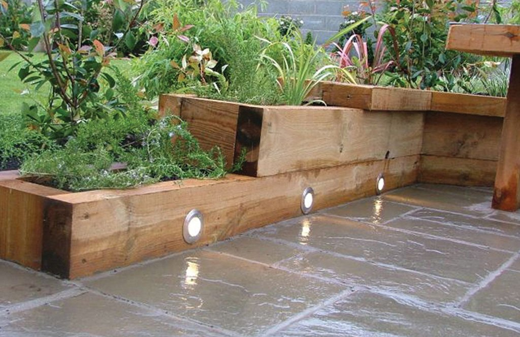 Nine ways to use wooden sleepers in landscaping