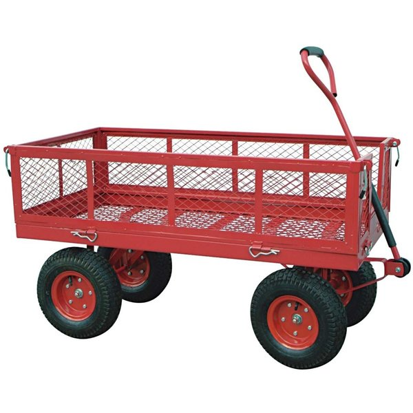 Heavy Duty Steel Mesh Wagon 2 in 1 1400 Lbs Capacity