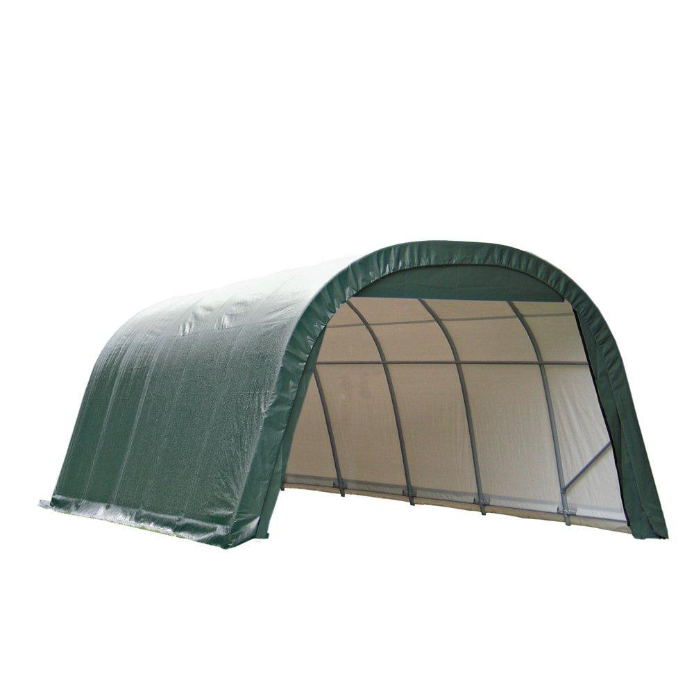 ShelterLogic 12-Ft.W Round-Style Instant Garage - 24ft.L x 12ft.W x 8ft.H, 1 5/8in. Frame, Green, Model# 72342