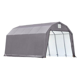 12x20x11 Barn Shelter, Grey Cover