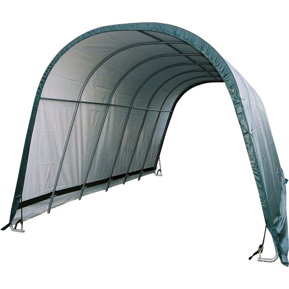 ShelterLogic Round Style Run-In Shelter, Green, 12 x 24 x 10 ft.