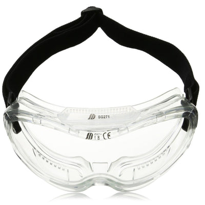 Protective Anti-Fog Safety Goggles with Wide-Vision, ANSI Z87.1 Approved | Adjustable & Lightweight