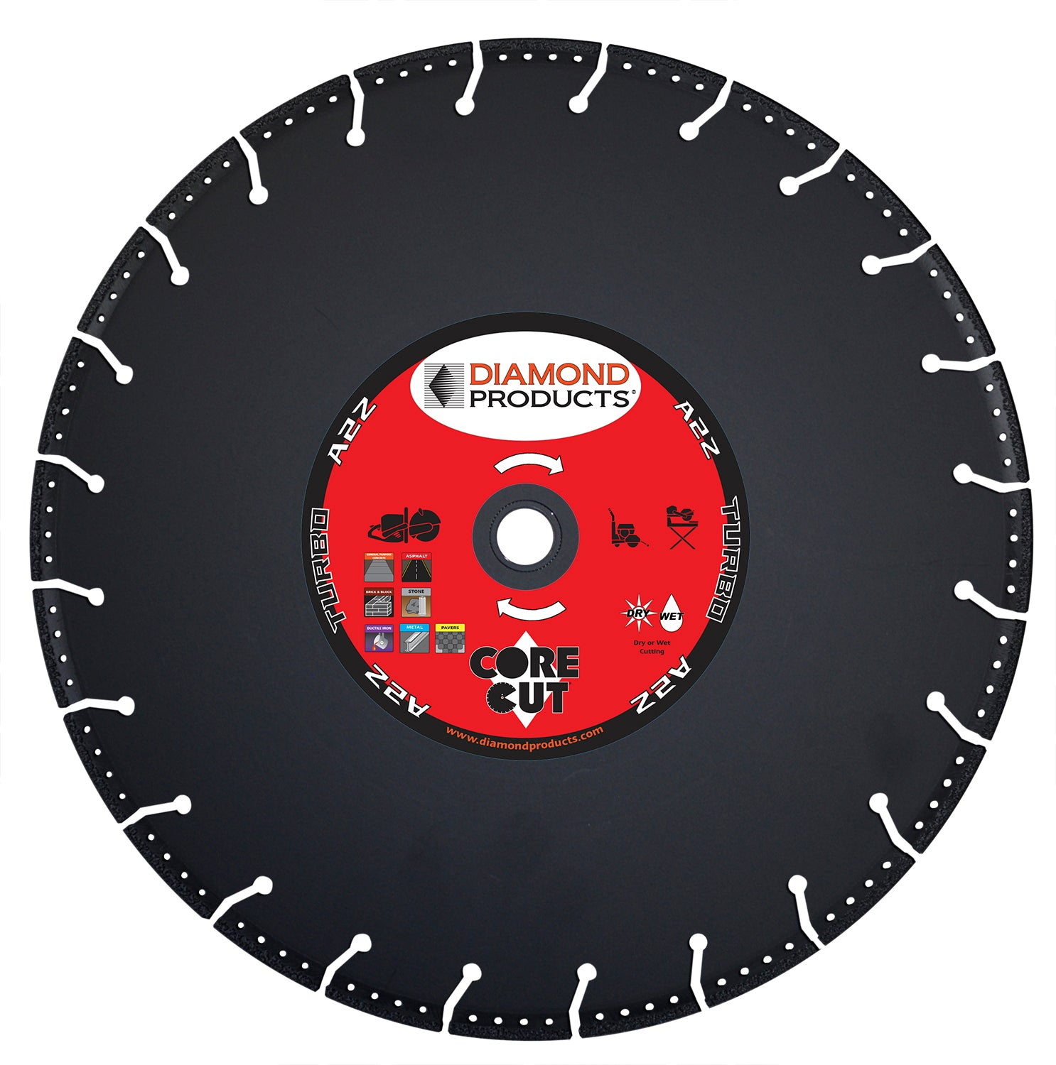 "7"" x .095 x 7/8"" A2Z Vacuum Bonded High Speed Blade"