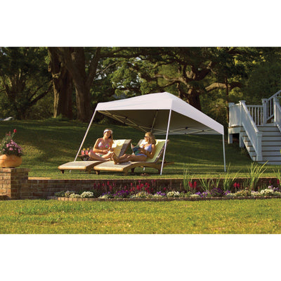 ShelterLogic Slant Leg Pop-Up Canopy with Roller Bag, 10 x 10 ft.