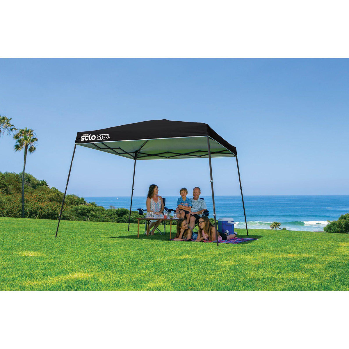 Quik Shade Solo Steel 11 x 11 ft. Slant Leg Canopy, Black
