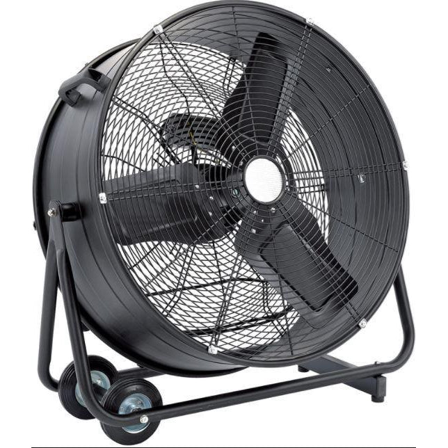 "24"" High Velocity Fan, Commercial High Velocity Rolling Drum Warehouse Shop Gym"