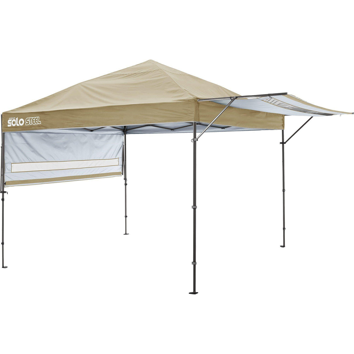 Quik Shade Solo Steel 10 x 17 ft. Straight Leg Canopy, Khaki