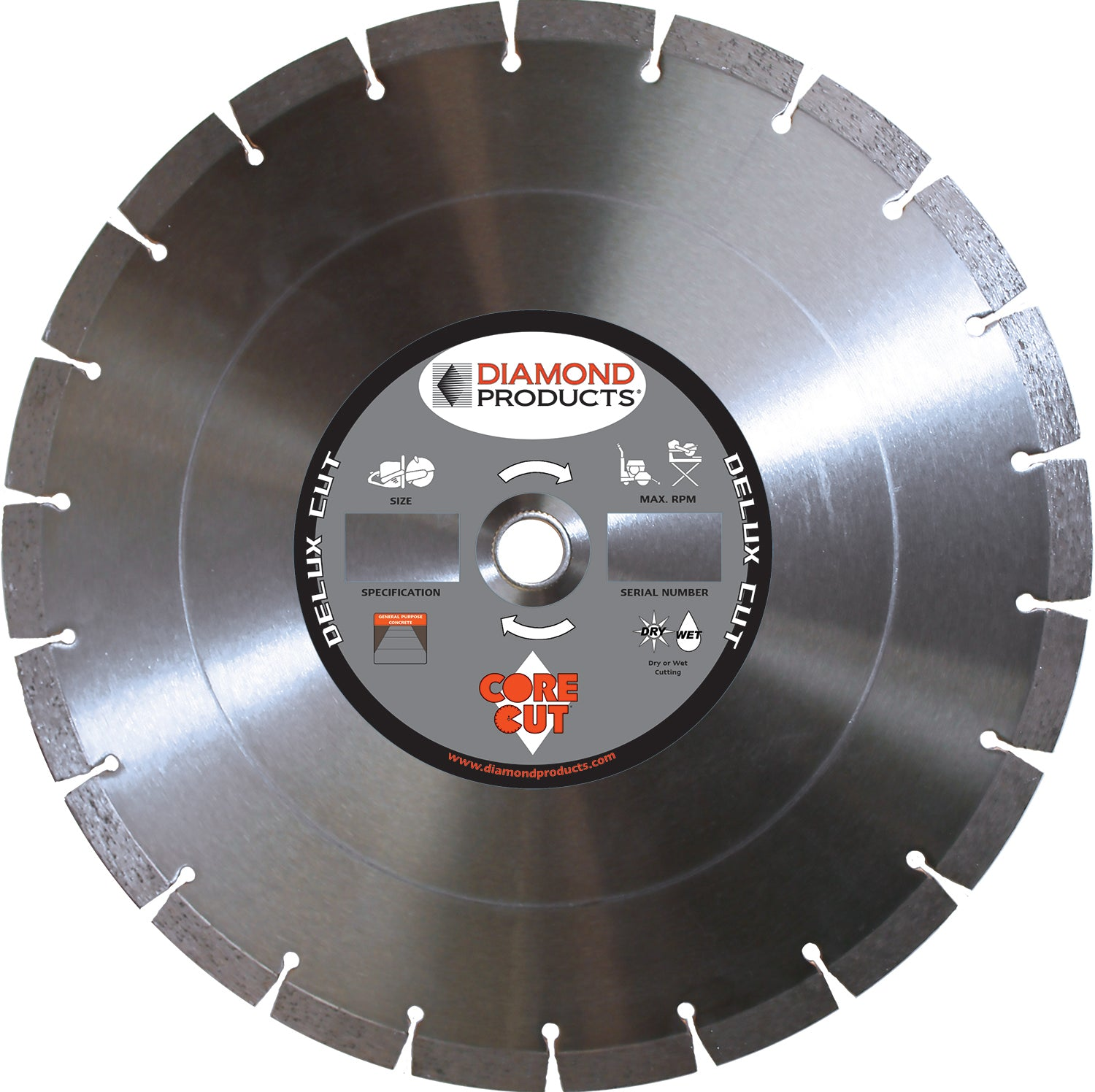 "14"" x .125 x 1"" Delux-Cut High Speed Blade"