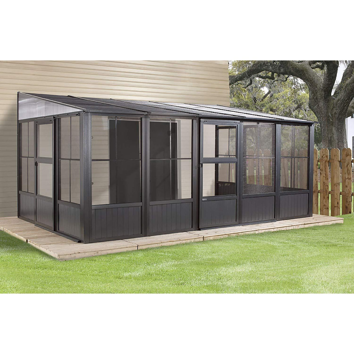 ShelterLogic Charleston 10 X 16 Wall-Mounted Solarium