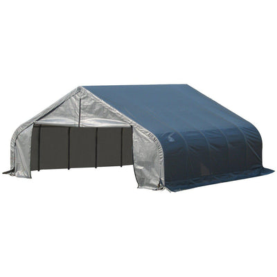 ShelterLogic 80024 Grey 18'x28'x12' Peak Style Shelter