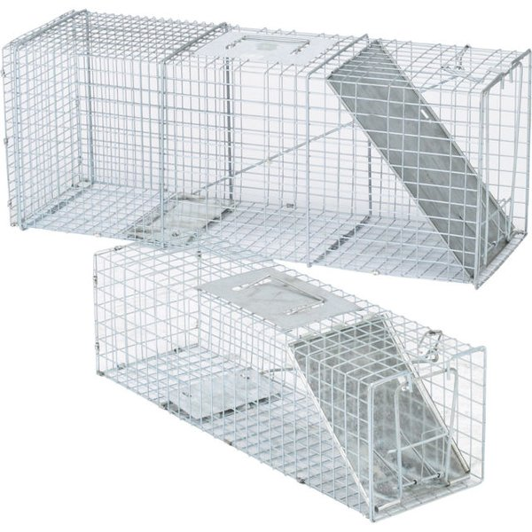 "Humane Live Animal Trap 32""x11""x13"" Large Steel Cage Spring Loaded Animal Racoon, Squirrel, Rodents, Possums"